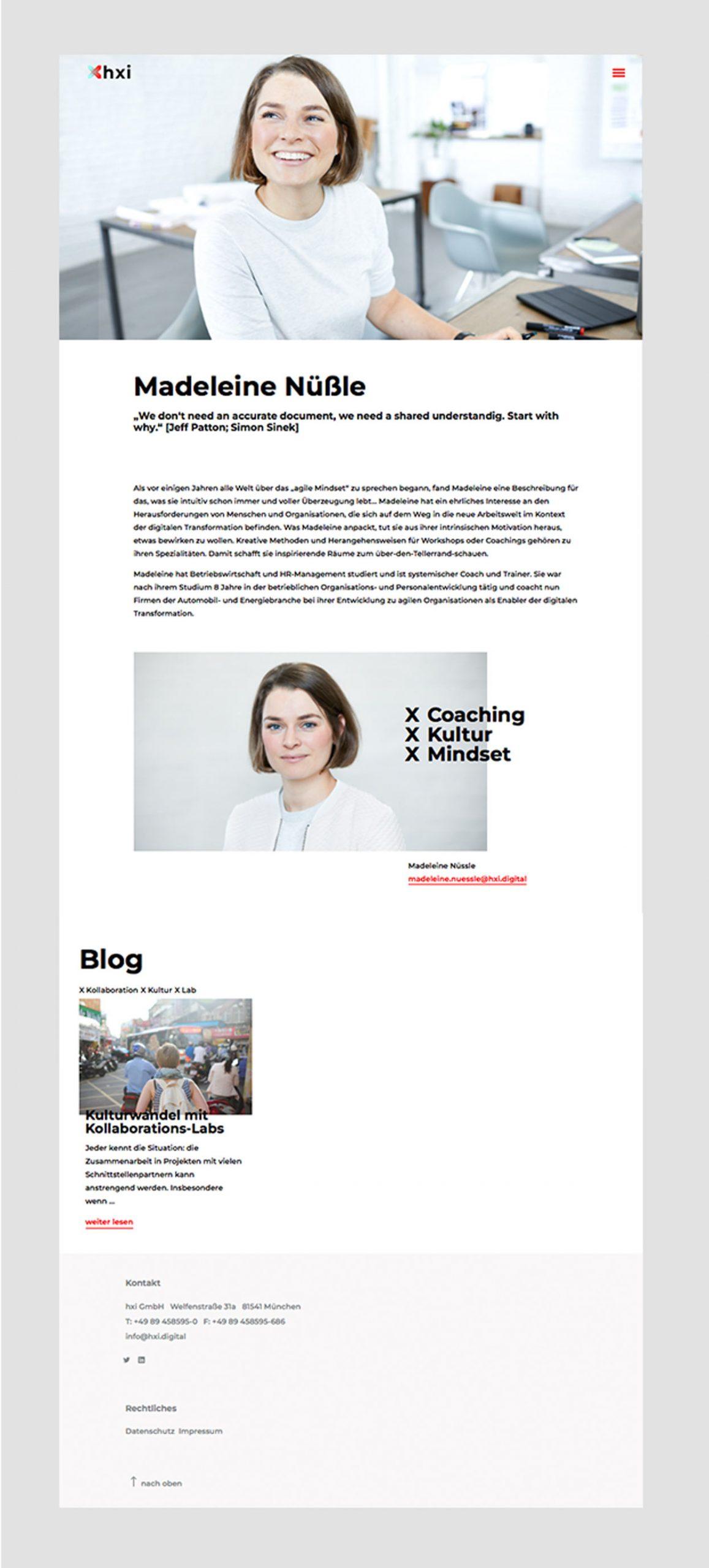 Bürovier Webdesign hxi ui